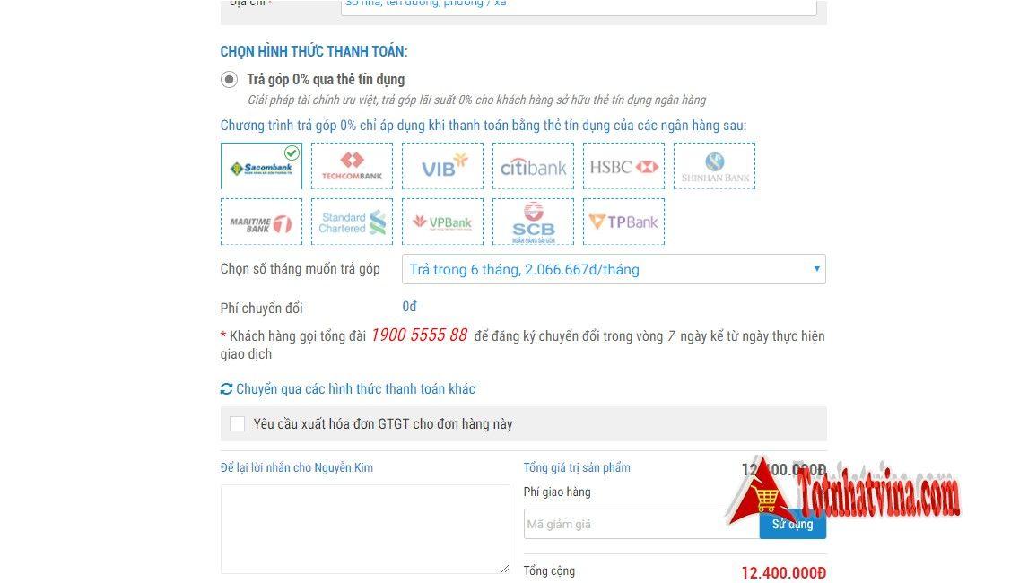 Thanh toán trả góp tại Nguyễn Kim