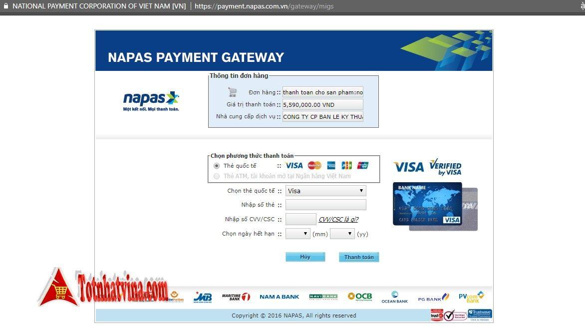 Thanh toán thẻ tín dụng FPT