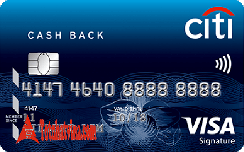 Đánh giá thẻ tín dụng hoàn tiền Citi Cash Back