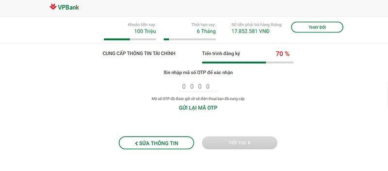 Vay tiền Vpbank không thế chấp đơn giản