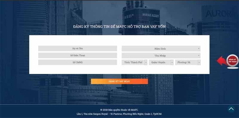 đăng kí vay tiền mặtMirae Asset tín chấp giải ngân lên đến 100 triệu online
