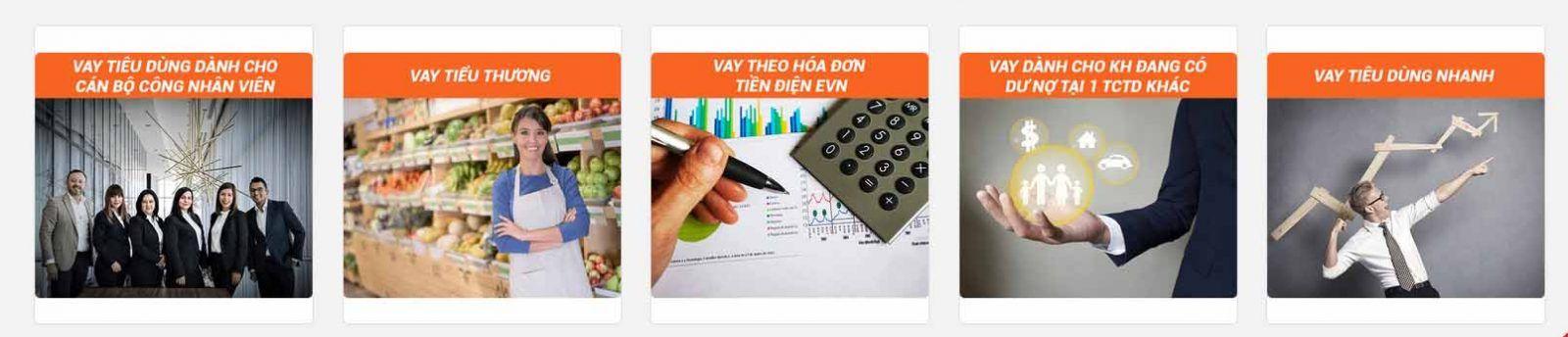 Các sản phẩm vay tiền mặt và lãi suất, điểu kiện