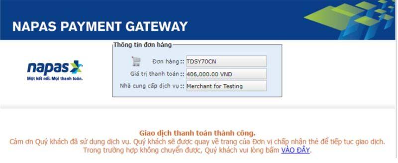 Mua vé xem bóng online thẻ nội địa