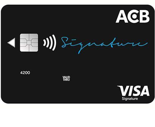 thẻ ACB Visa Signature