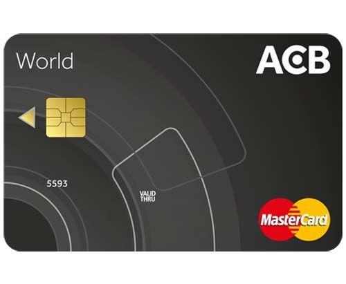 thẻ tín dụng ACB World MasterCard