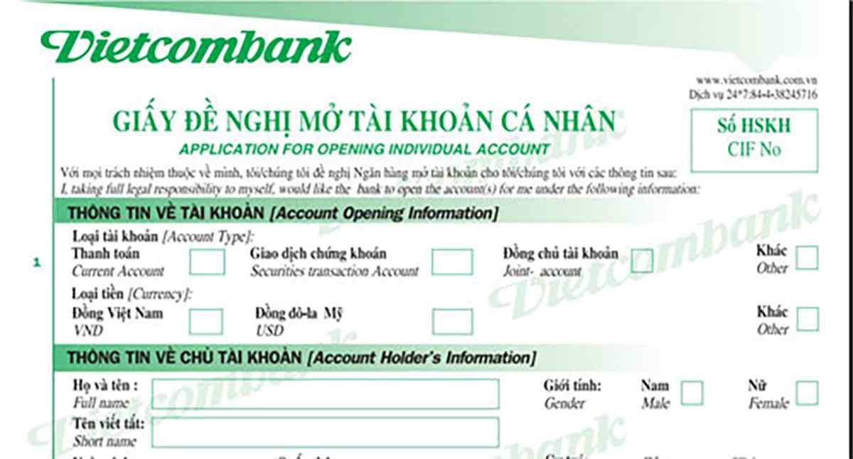 Hướng dẫn cách làm thẻ ATMTại ngân hàng Vietcombank