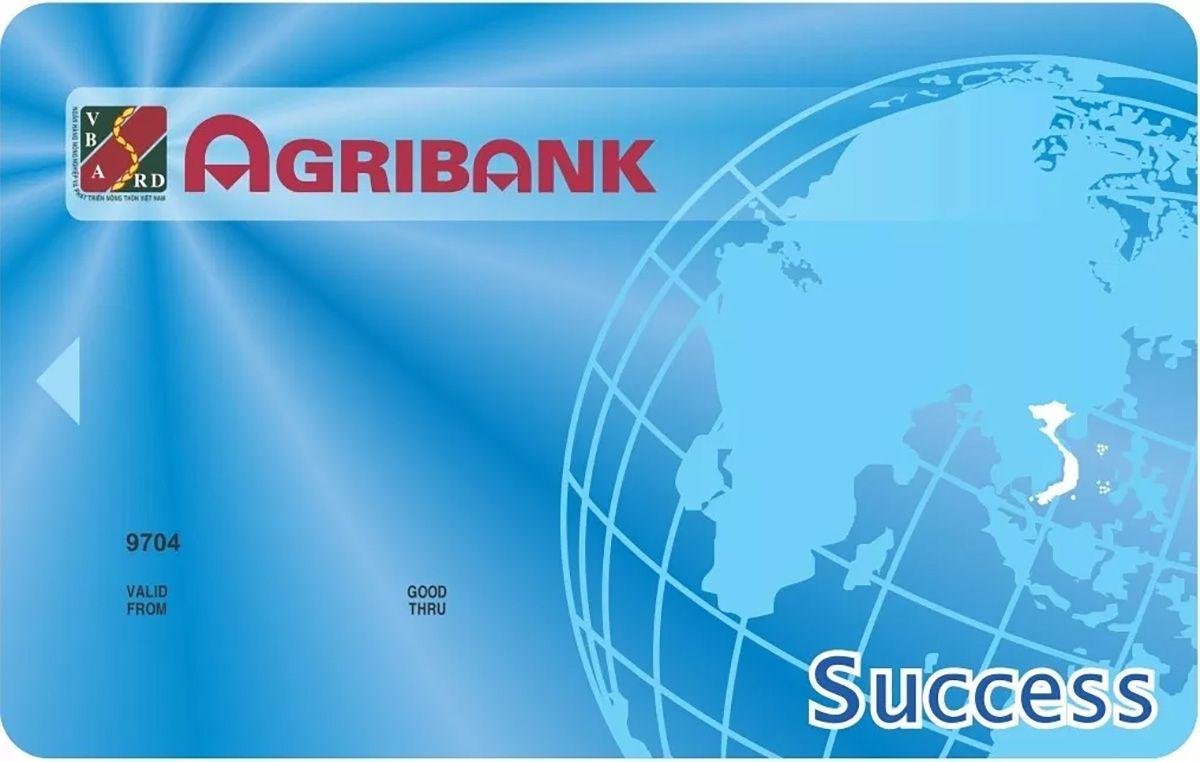 Hình ảnh mặt trước của thẻ ATM Agribank