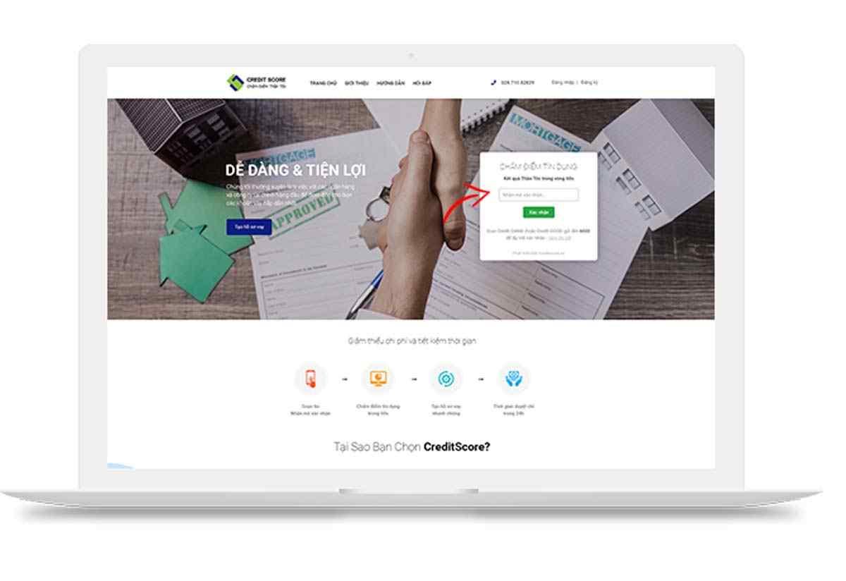 Chấm điểm tín dụng xác nhận vay creditnow