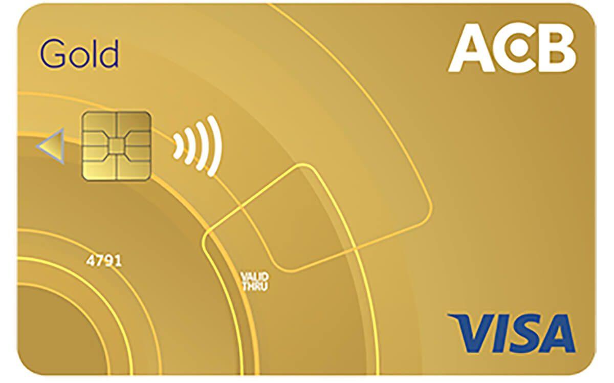 thẻ tín dụng Visa gold của acb