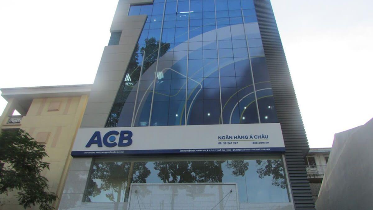 Chi nhánh ngân hàng ACB ở thành phố Hồ Chí Minh