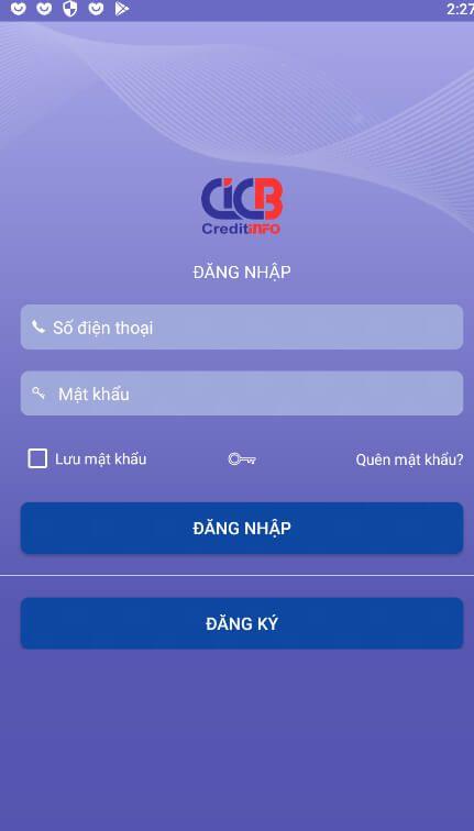 Đăng kí sử dụng app CIC Credit Connect - Kết nối nhu cầu vay