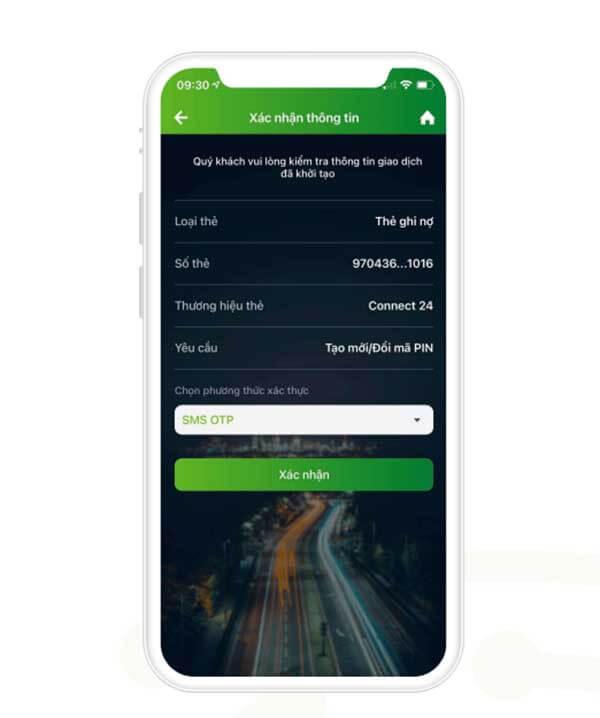 II. Hướng dẫn đổi mã pin/ tạo mới mã pin thẻ tín dụng hoặc thẻ ghi nợ trên ứng dụng VCB Digibank