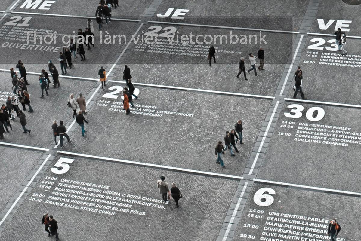giờ làm việc ngân hàng vietcombank
