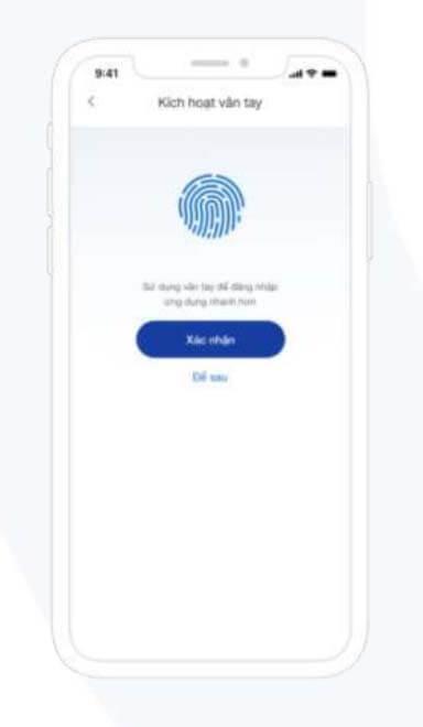 đăng nhập bằng khuôn mặt hoặc vân tay