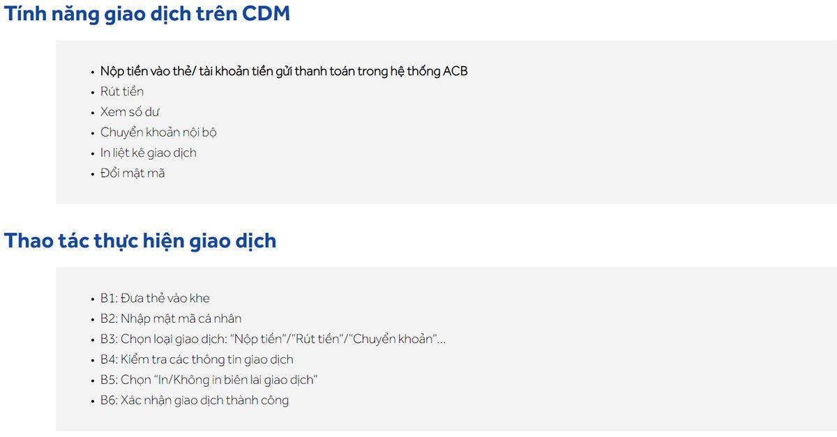 Máy giao dịch tự động của ACB (CDM)