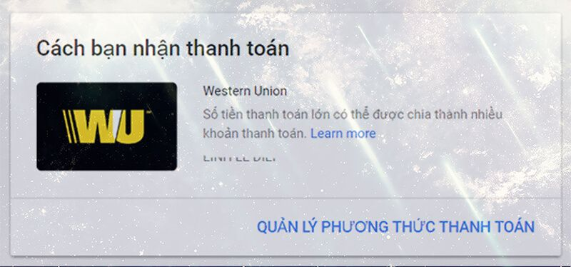 Hướng dẫn cách nhận tiền từ Google Adsense Western Union (WU) cho cá nhân