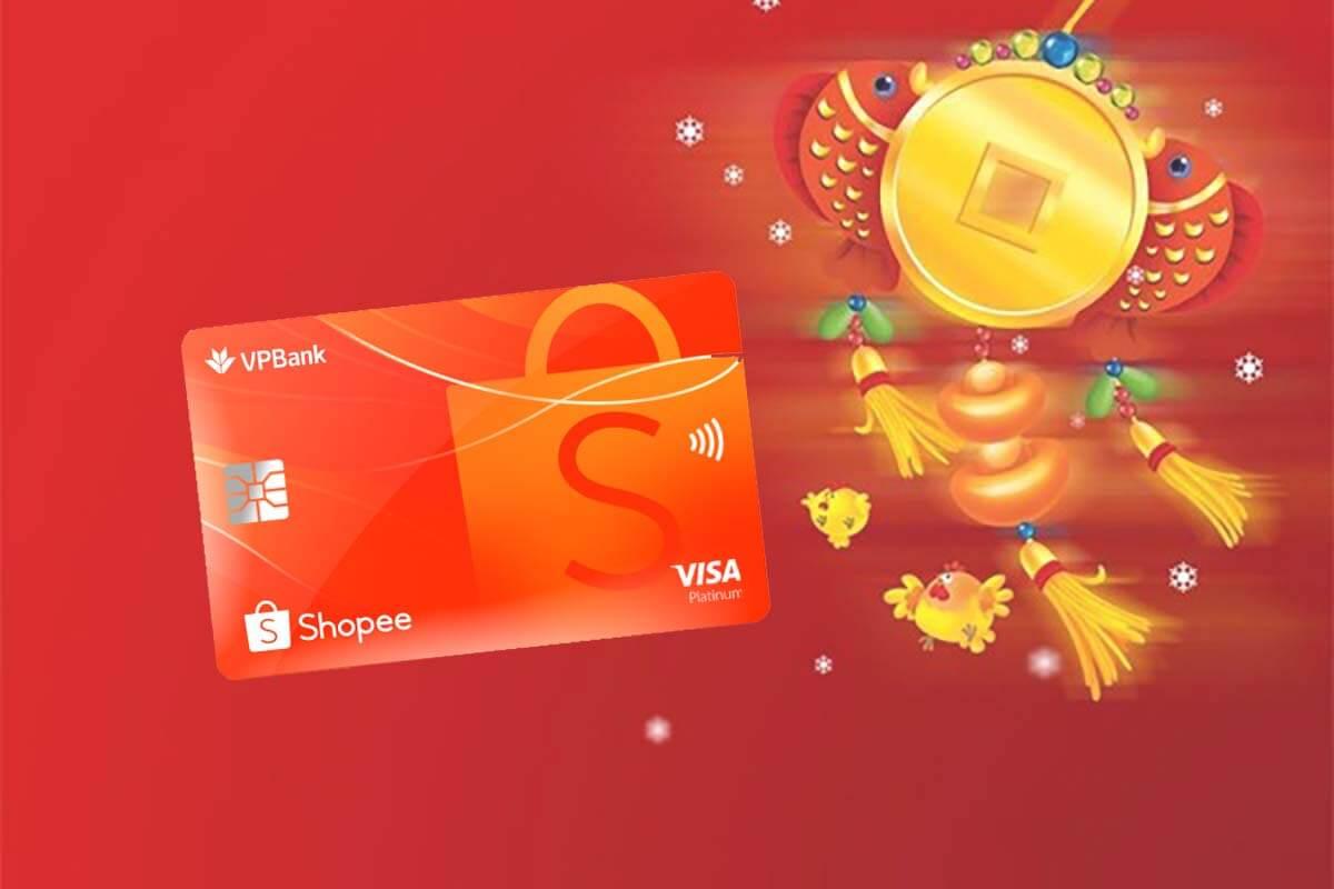 Thẻ tín dụng VPBank Shopee – Freeship cả năm, 365 ngày hoàn tiền