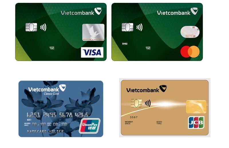 THẺ TÍN DỤNG VIETCOMBANK VISA/ MASTERCARD/JCB / UNIONPAY