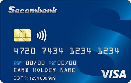 thẻ tín dụng Sacombank Visa